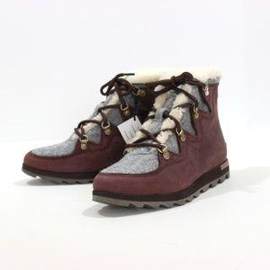 Sorel Sneakchic Alpine Boot Leather Fleece Cattail